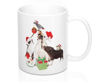 Merry Christmas To All Creatures - Coffee Mugs