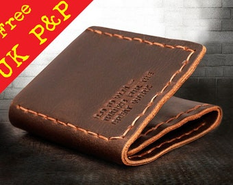 BEAUTIFUL leather WALLET --- The Secret Life of Walter Mitty --- shipped from UK