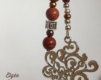 "Keychain ""brown tree with fall"""