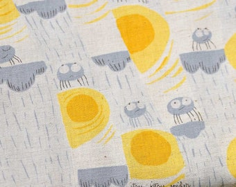 Its Bitsy Spider in Gray by Heather Ross for Kokka in Grey
