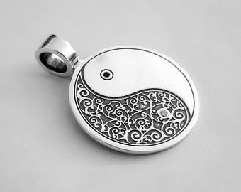 "Pendant ""Yin Yan"",Silver Pendant"
