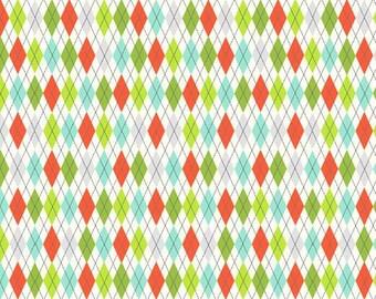 Ivory Argyle Fabric no.253