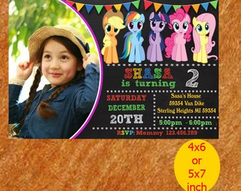 My Little Pony Birthday Invitation, My Little Pony Invitation, My Little Pony Birthday, My Little Pony Party, Printable, Instant Download