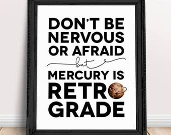 funny office poster. mercury retrograde printable sign funny office art 8 poster