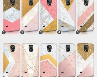 Golden Marble Pink Glitter Phone Case For HTC One Full Wrap Hard Cover Gift Stylish Sophisticated Fashionable