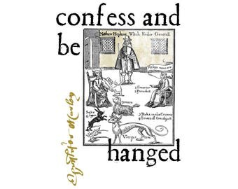 T-SHIRT: Christopher Marlowe / Confess and Be Hanged - Classic T-Shirt & Ladies Fitted Tee - (LazyCarrot)