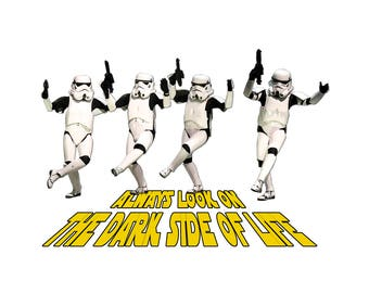 T-SHIRT: Dancing Storm Troopers - Classic T-Shirt & Ladies Fitted Tee - (LazyCarrot)