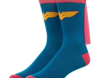 Dc Comics Wonder Woman Socks (New, Free Shipping For Additional Products, 1 Pair)