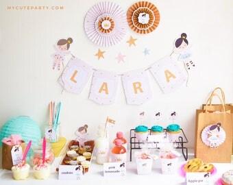 Birthday Party Ballerina Printable Kit