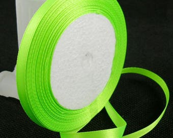 Yellow-green satin ribbon sold by the yard