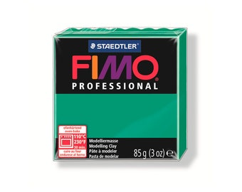 Polymer clay Fimo Pro 85 g - green pure No. 500