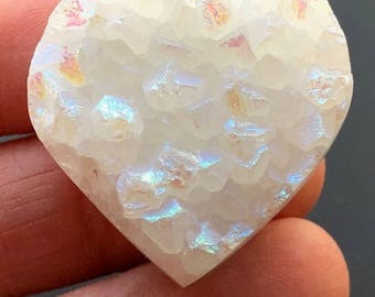 Beautiful Heart Shape Aura Anandalite™ ~ Rainbow Quartz Crystal from India ~26gm