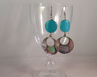 Aulite and mother of pearl earrings