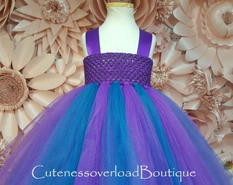 Teal and Purple Wedding Bride Dress-Teal and Purple Wedding Tutu Dress-Teal and Purple Tutu Dress-Teal and Purple Flower Girl Tutu Dress.