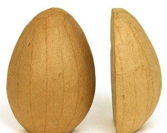Set of 6 Paper Mache Half Egg with Flat Side