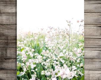 Printable Nursery Art, Flower Print, Wildflower Photography, Garden Photo, Digital Download