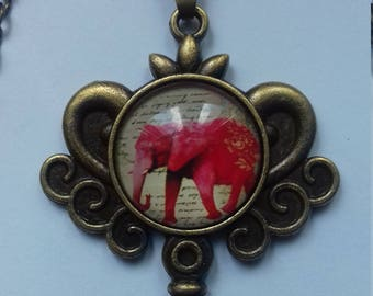 """Elephant"" key necklace"