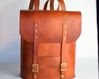 Brown Leather Backpack - Backpacks - Leather Backpack Women - Leather Back Pack - Leather Backpack Laptop - Leather Backpack Purse - Gift
