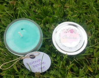 Lavender Mint and lime candle
