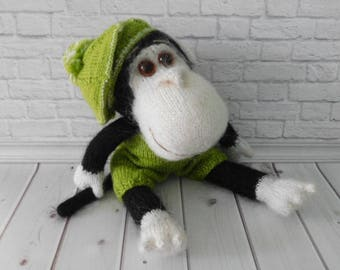 Monkey Hand-Knitted Amigurumi Toy African Animals Funny monkey Gift toy monkey Fashionista Beautiful toy Knit monkey Eco toy monkey