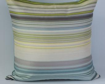 "Decorative Pillow- Gorgeous- Home Decor-Cushion-Inner-18x18""-Silver-Green-Blue"