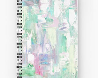 spiral notebook, abstract journal, abstract spiral journals - Free Shipping -