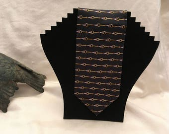 Paolo Gucci Black Patterned Necktie