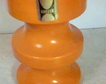 Vintage Haeger Candle Stick Holder Orange