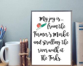 My joy is... Winnipeg Farmer's Markets | Joy | Summer | Digital Print SALE