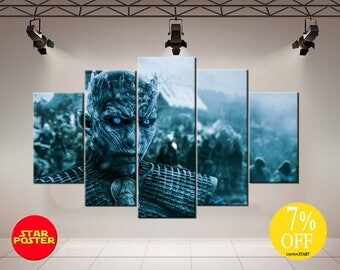 Game of Thrones canvas, Night King canvas, Night King print, GoT print art, Game of Thrones art, Game of Thrones print, GoT canvas, GoT art