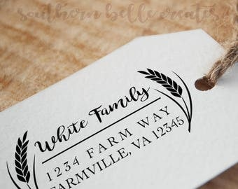 Wheat Address Label
