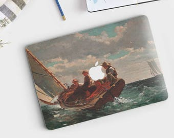 """Winslow Homer, """"Breezing Up"""". Macbook Pro 15 cover, Macbook Pro 13 cover, Macbook 12 cover. Macbook Pro cover. Macbook Air cover."""