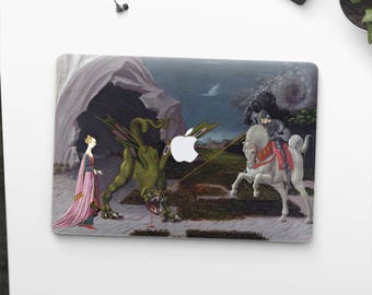 "Paolo Uccello, ""Saint George and the Dragon"". Macbook Pro 15 skin, Macbook Pro 13 skin, Macbook 12 skin. Macbook Pro skin. Macbook Air skin."