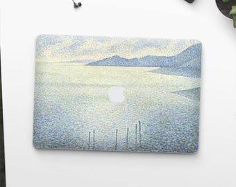 """Théo van Rysselberghe, """"Coastal Scene"""". Macbook Pro 15 decal, Macbook Pro 13 decal, Macbook 12 decal. Macbook Pro decal. Macbook Air decal."""