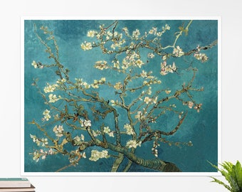 "Vincent Van Gogh, ""Blossoming Almond Tree"". Art poster, art print, rolled canvas, art canvas, wall art, wall decor"