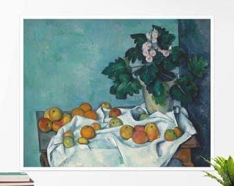 "Paul Cézanne, ""Still Life with Apples"". Art poster, art print, rolled canvas, art canvas, wall art, wall decor"