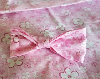 Pink Floral Baby Bows