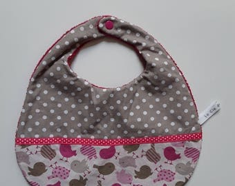 Baby bib Terry cloth and cotton