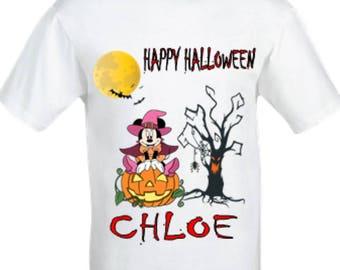 Minnie mouse halloween shirt,girl's halloween shirt,girl's Minnie mouse shirt,halloween custom shirt,Minnie mouse shirt,halloween top.