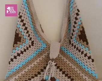 Crochet hobo bag, shoulder bag, handmade bag, boho hobo handbag,crochet shoulder bag, summer beach, SEVİLDENStore