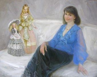 custom portrait oil portrait from photo Custom Portrait Painting Oil Painting Child Portrait Family Wedding Portrait From Photo Portrait