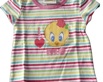 Short sleeve t-shirt t-shirt 6 months baby girl TWEETY (68 cm)