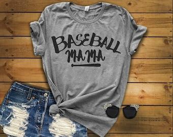 Baseball Mama, Baseball mom, womens shirt