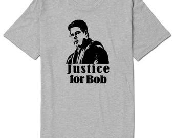 Stranger Things Justice for Bob Unisex T Shirt Many Sizes Colors Custom Horror Halloween Merch Massacre
