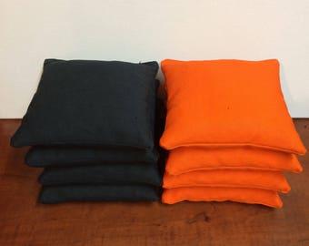 Orange and Black Cornhole bags set