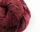 Anne - burgundy pink brown gold variegated or tonal hand dyed yarn - fingering, sock, sport, DK, worsted weight - 100 grams - dyed to order