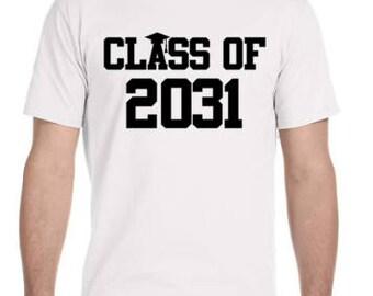 Class of 2031 T-Shirt / Future Graduate T-Shirt / Kid T-Shirt / Memory Shirt / First Day Of School Shirt / Graphic Tees / School T-Shirt