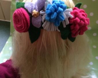 Festival flower hair headband accessory
