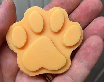 TROPICAL SODA POP cute paw print Soy Wax Tart Melt approx 30g