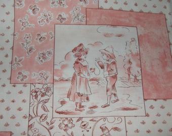100% Cotton Fabric BTY - Ollie & Me La Petit Toile